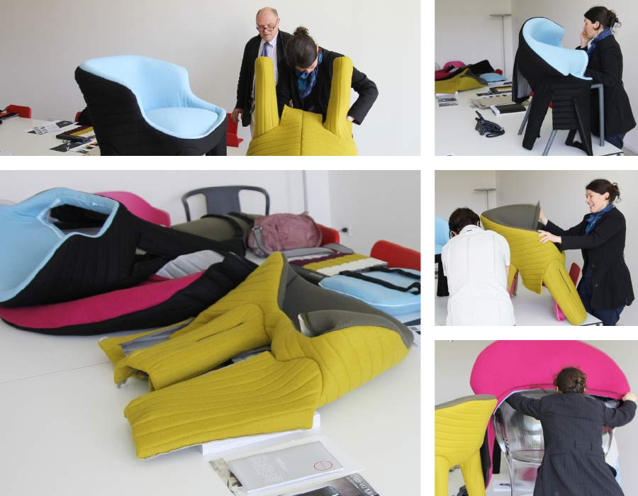 Magis easy chair Spacecoats - at work in the studio