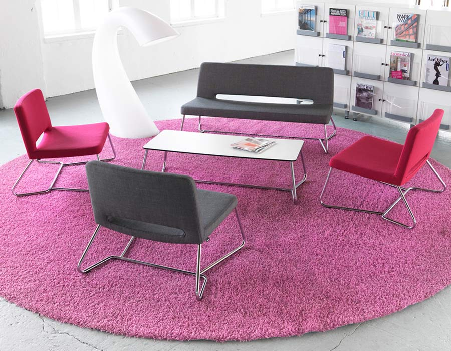 Martela SoftX conference chair, easy chair, sofa and side table