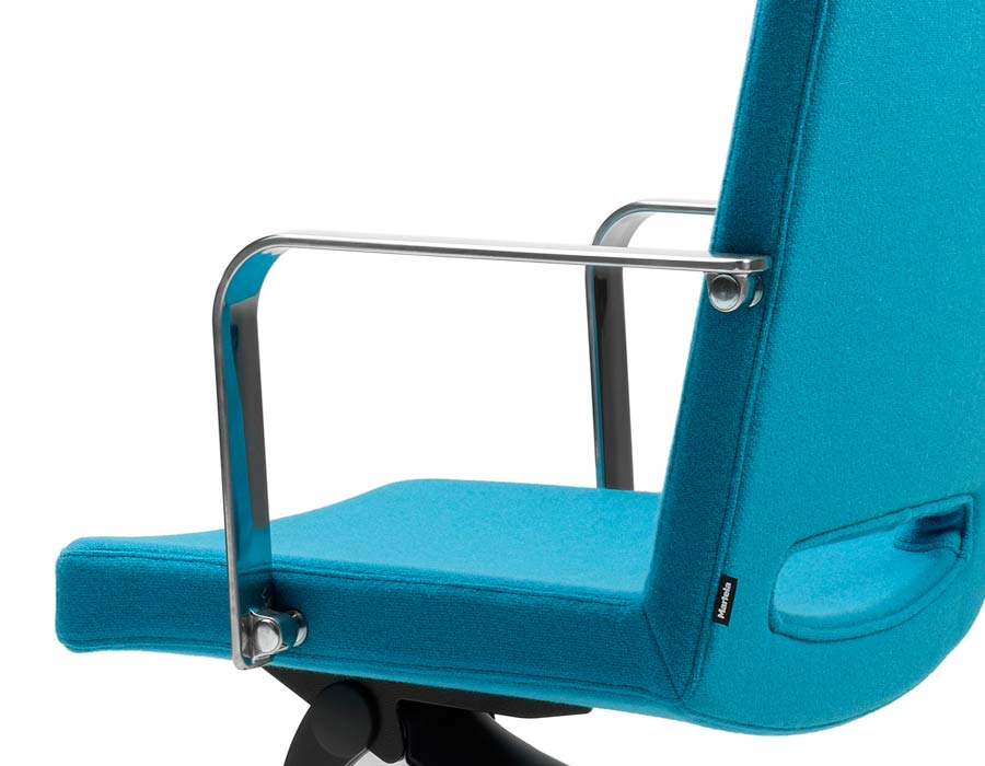Martela SoftX office chair turquoise detail