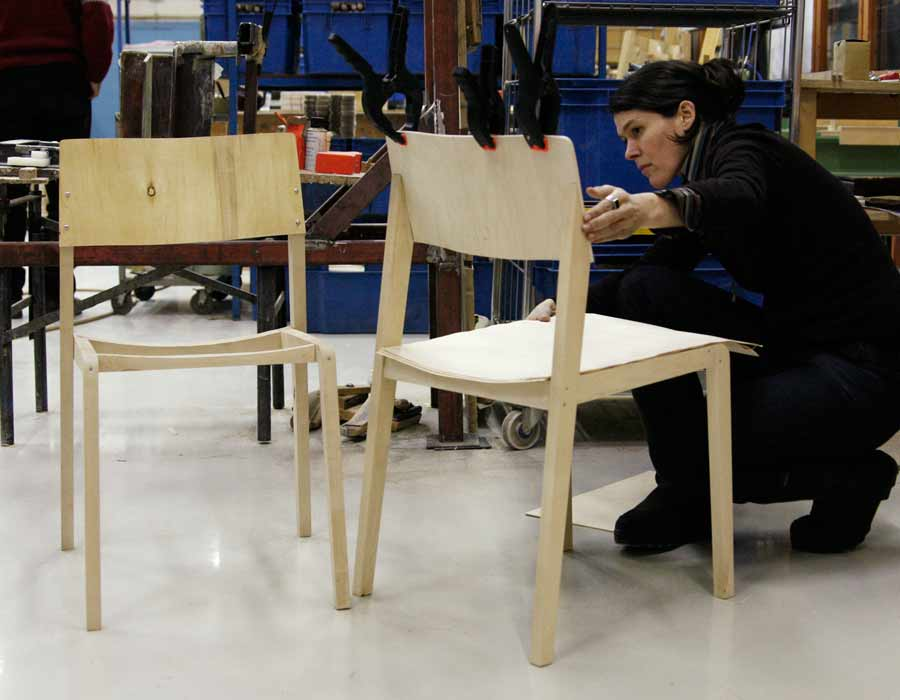 Thonet chair 330 - work on the chair by artist Julia Läufer
