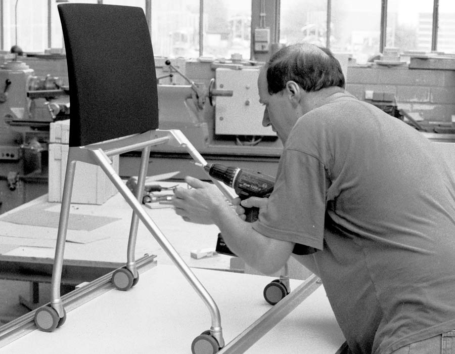 nesting chair calla wilkhahn prototyping assembling